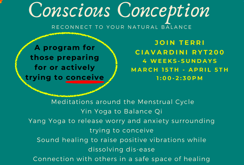 Conscious Conception (Registered 4 Week Class)